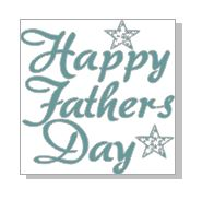 Happy fathers day RUBBER ONLY  for use with stamping platforms o